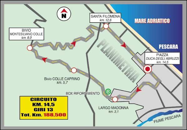 Streckenverlauf Trofeo Matteotti 2008