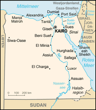 Karte Äyptens
