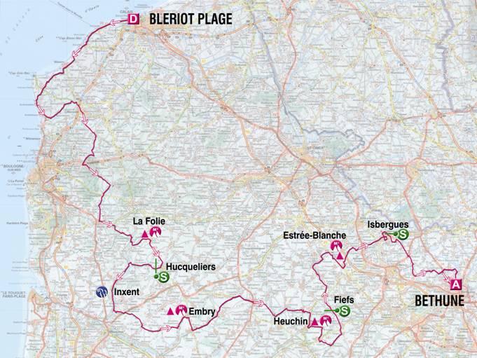 Streckenverlauf 4 Jours de Dunkerque 2009 - Etappe 3