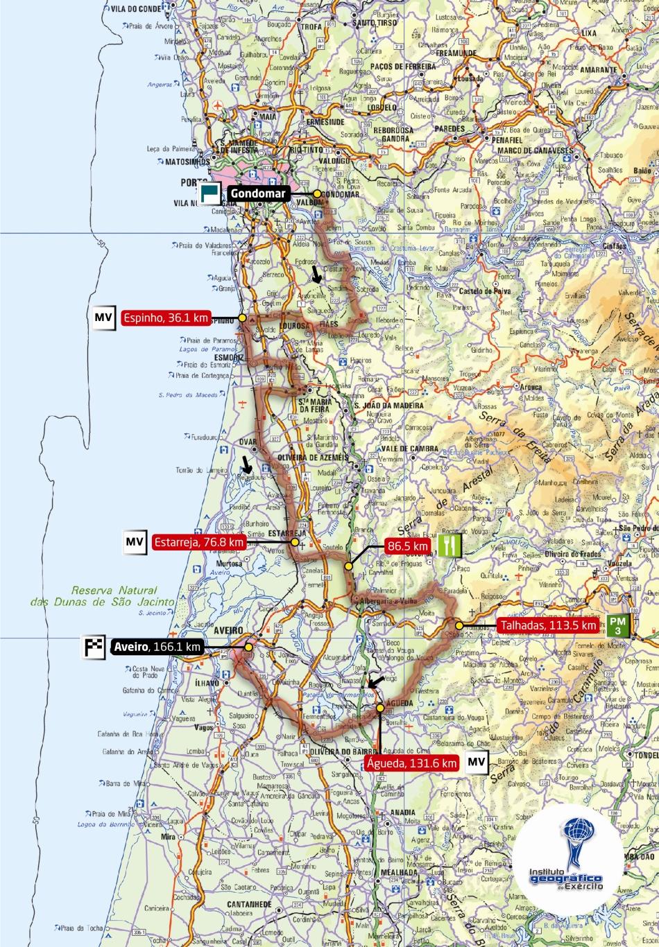 Streckenverlauf Volta a Portugal em Bicicleta 2009 - Etappe 8