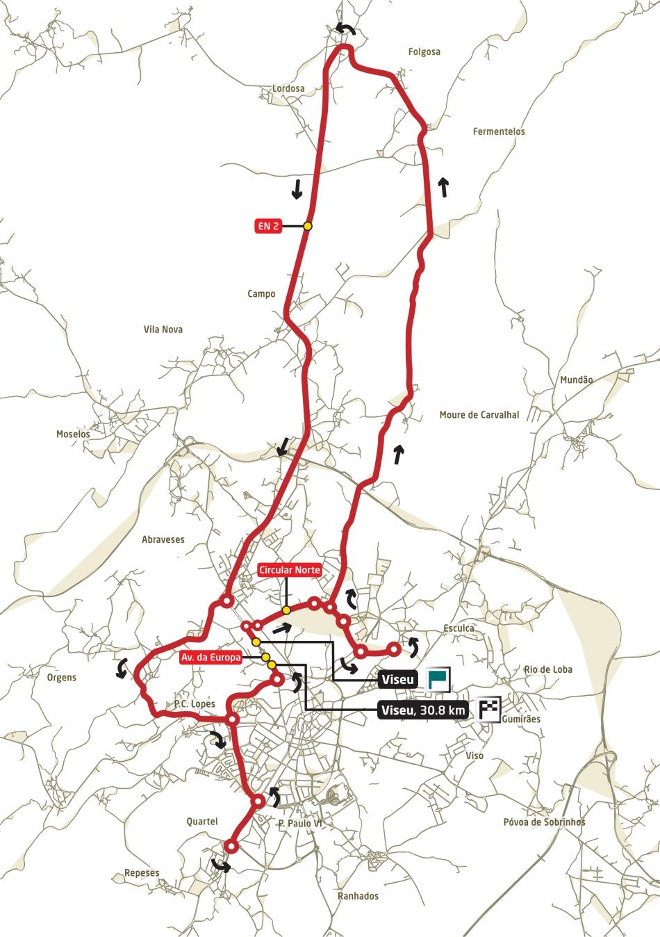 Streckenverlauf Volta a Portugal em Bicicleta 2009 - Etappe 10