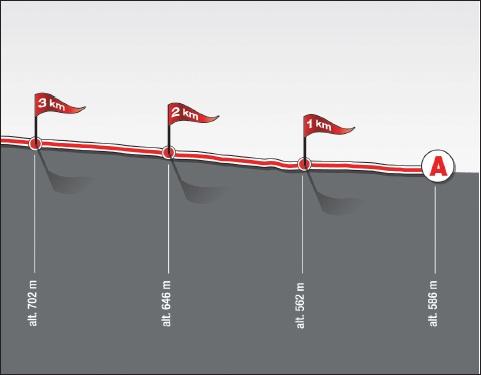 Höhenprofil Grand Prix de Suisse 2010, letzte 3 km