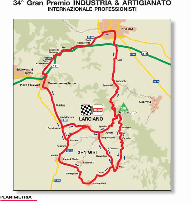 Streckenverlauf GP Industria & Artigianato 2010