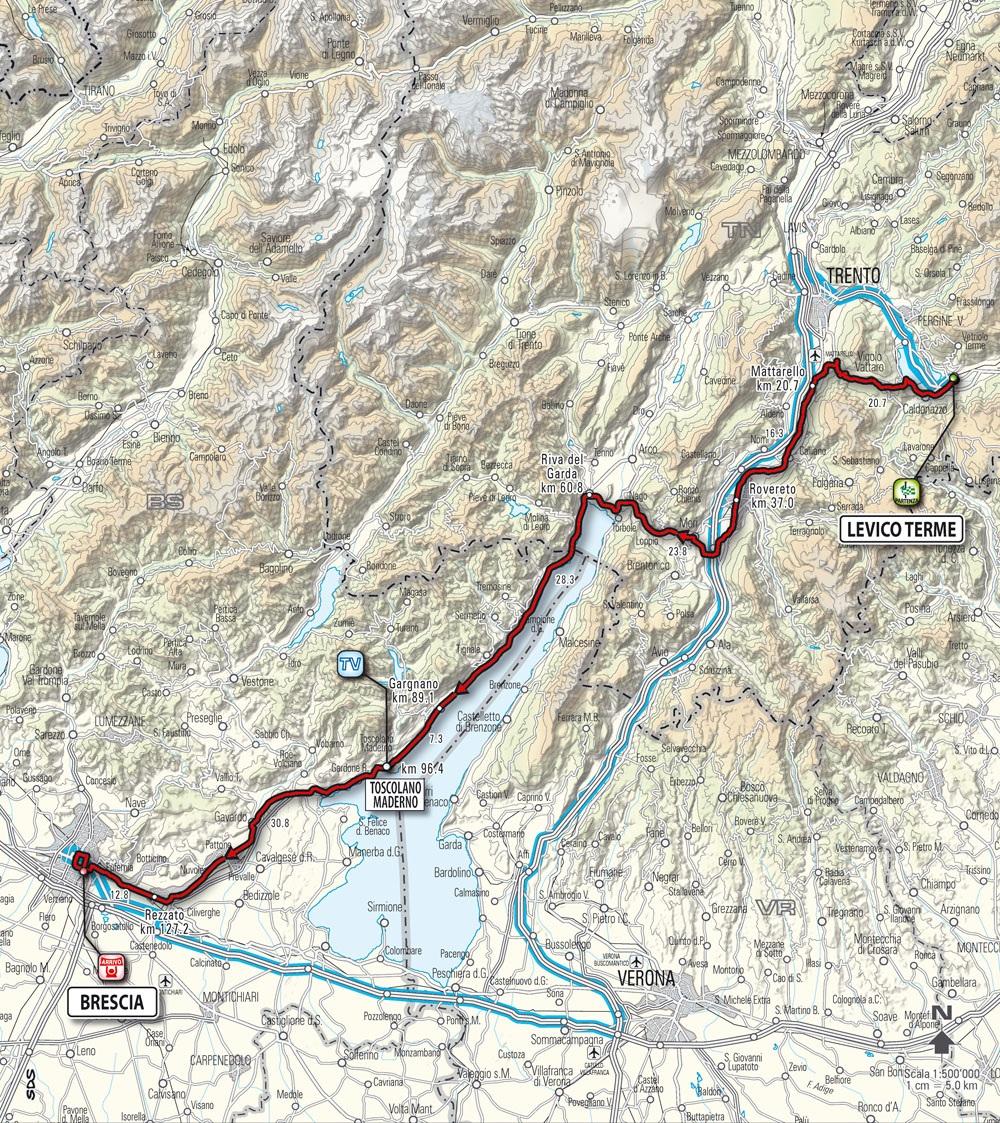 Streckenverlauf Giro d´Italia 2010 - Etappe 18