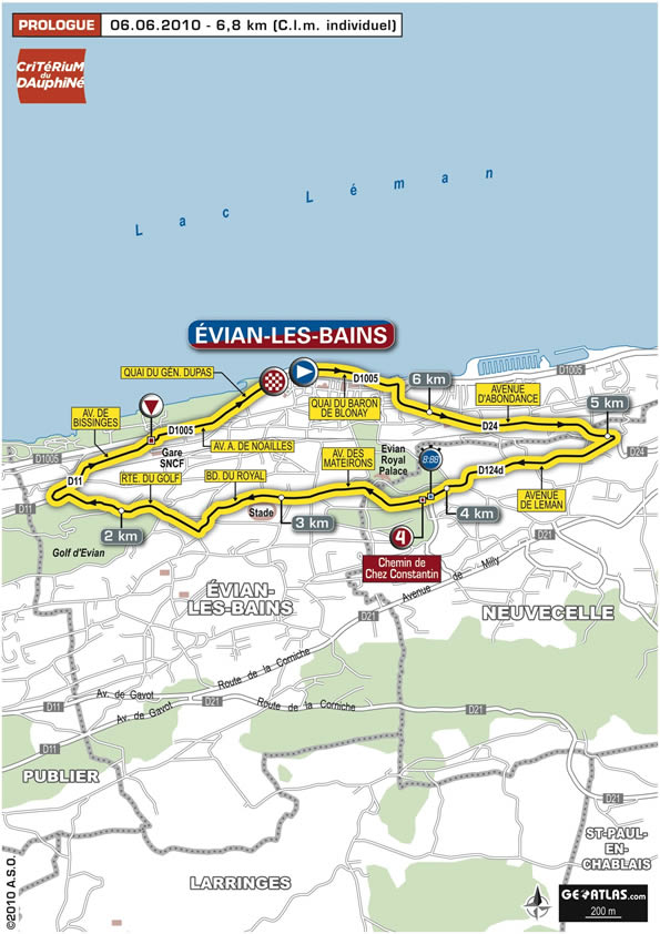 Streckenverlauf Critérium du Dauphiné 2010 - Prolog