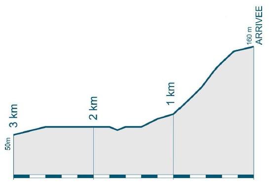 Höhenprofil Grand Prix de Plumelec-Morbihan 2010, letzte 3 km