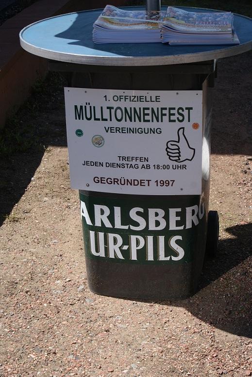 Der 1. Mülltonnen Verein Großrosseln unterstützt die Trofeo Karlsberg