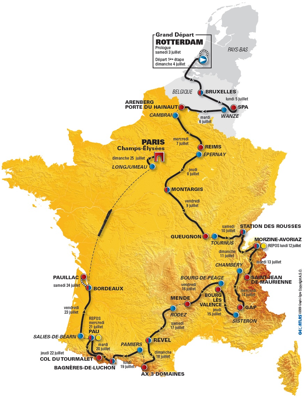 Streckenverlauf Tour de France 2010 - Etappe 11