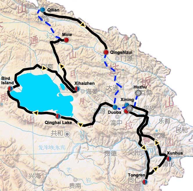 Streckenverlauf Tour of Qinghai Lake 2010