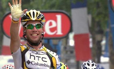 Mark Cavendish holt auf den Champs-Élysées in Paris seinen fünften Etappensieg bei der Tour de France 2010 (Foto: www.letour.fr)
