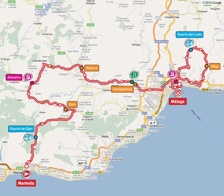 Streckenverlauf Vuelta a España 2010 - Etappe 3