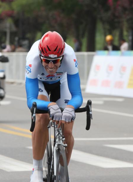 Tobias Erler im Prolog der Tour of China, Foto: http://www.bikeman.org/