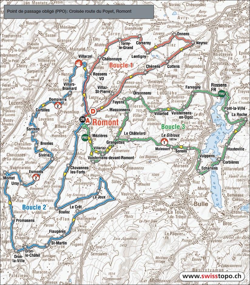 Streckenverlauf Tour de Romandie 2011 - Etappe 2