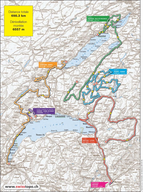 Streckenverlauf Tour de Romandie 2011