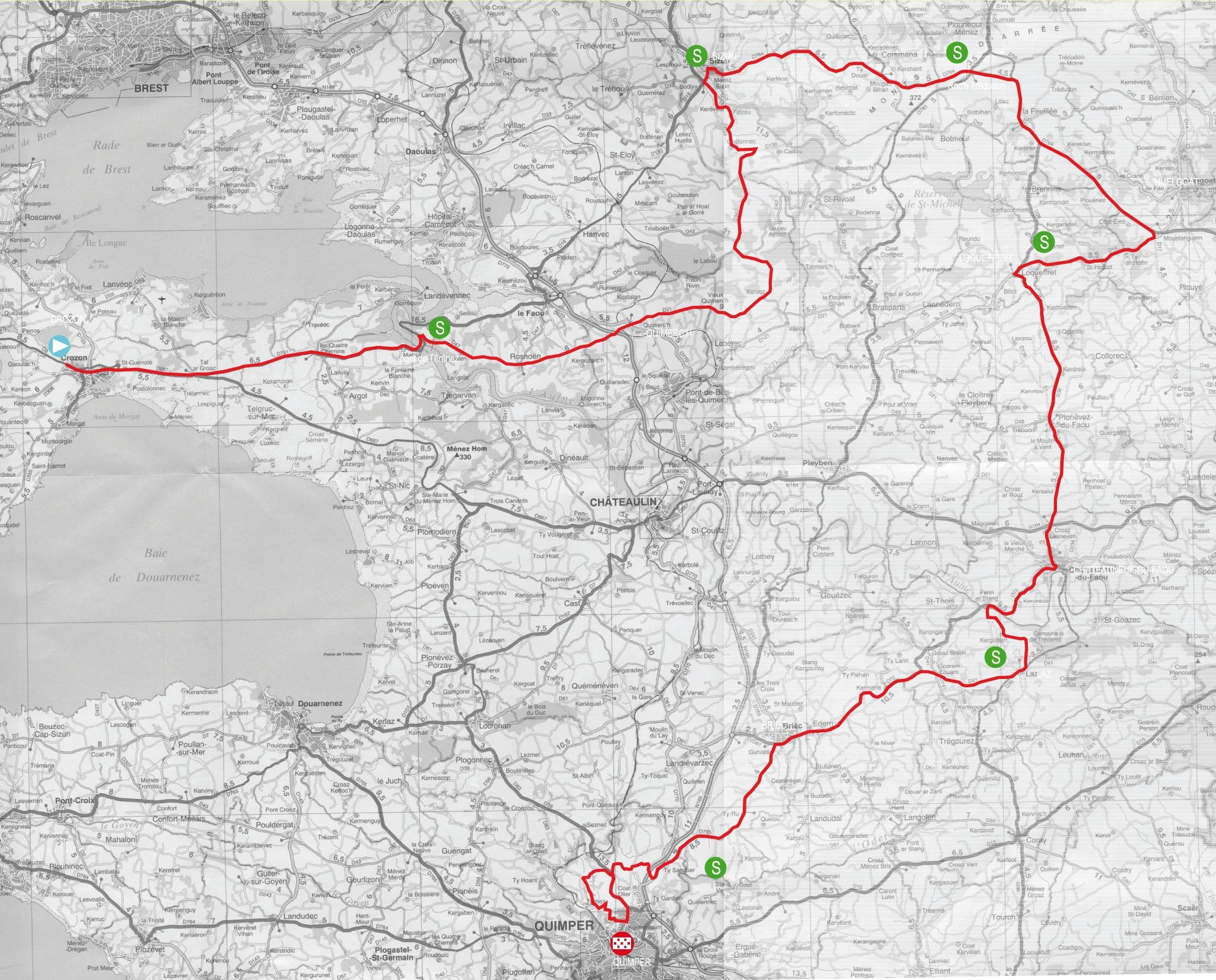 Streckenverlauf Tour du Finistère 2011