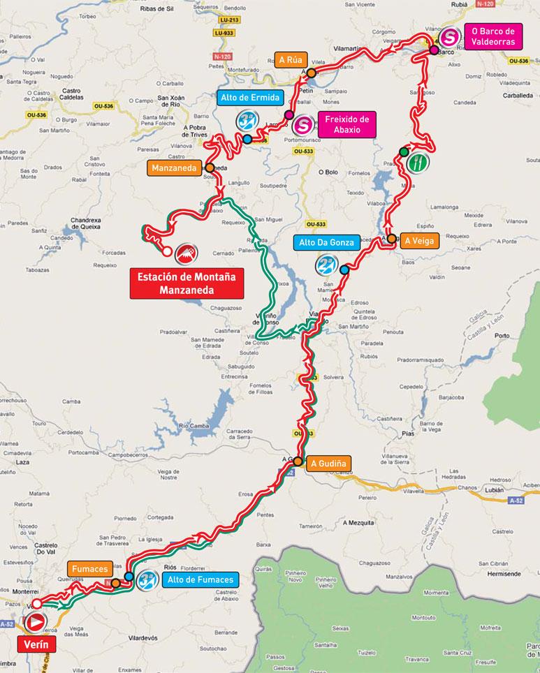 Streckenverlauf Vuelta a España 2011 - Etappe 11