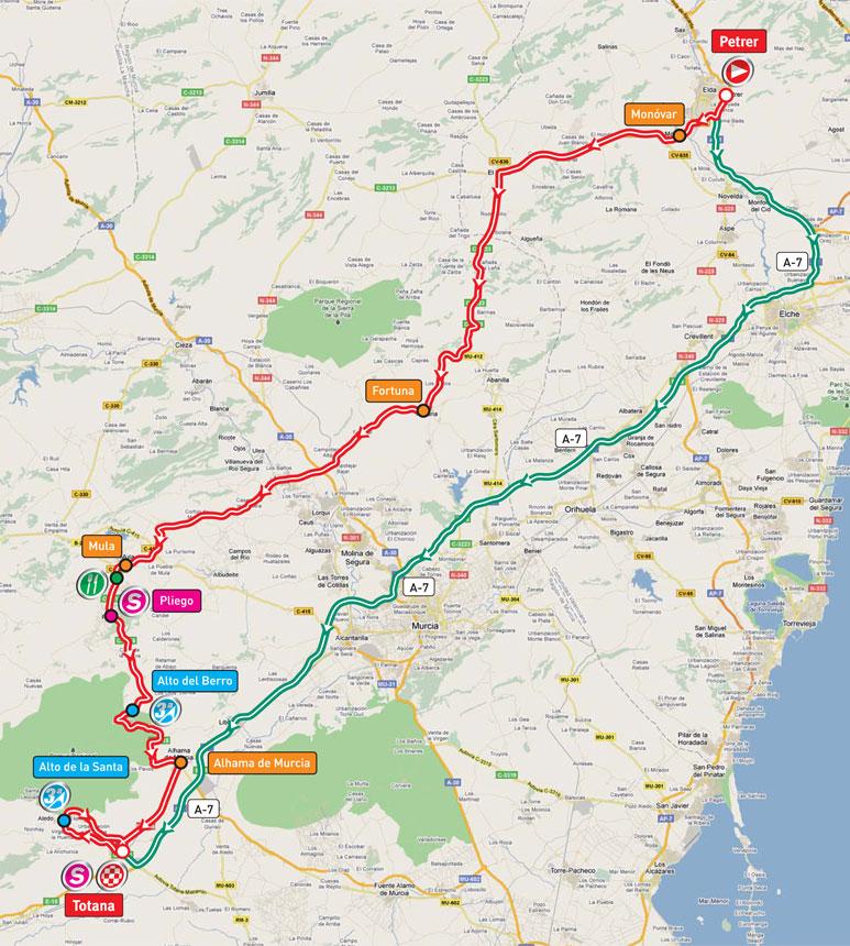 Streckenverlauf Vuelta a España 2011 - Etappe 3