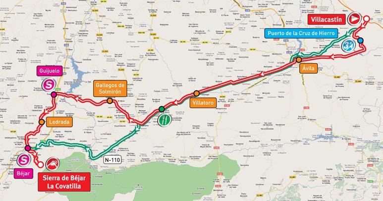 Streckenverlauf Vuelta a España 2011 - Etappe 9