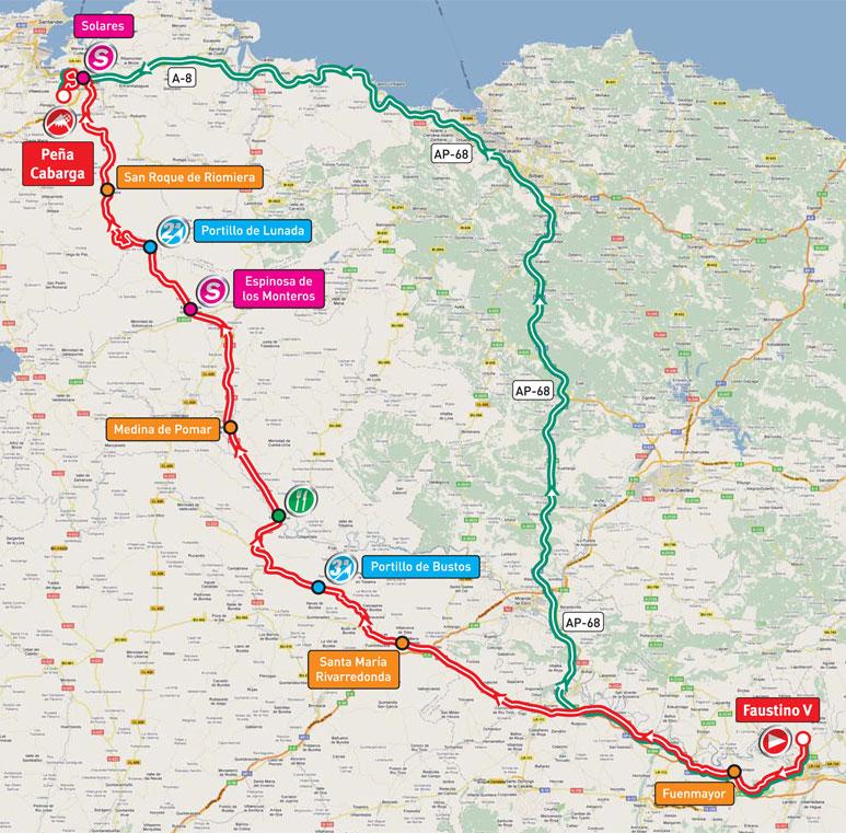 Streckenverlauf Vuelta a España 2011 - Etappe 17
