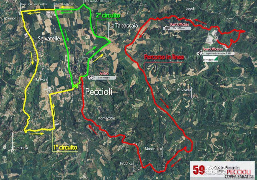 Streckenverlauf Coppa Sabatini Gran Premio città di Peccioli 2011
