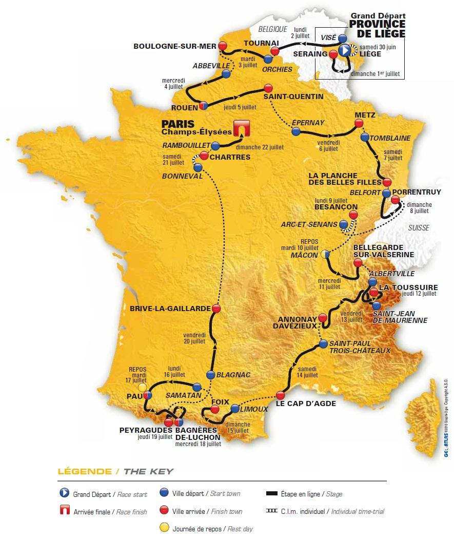 Google Maps Tour De France Bike