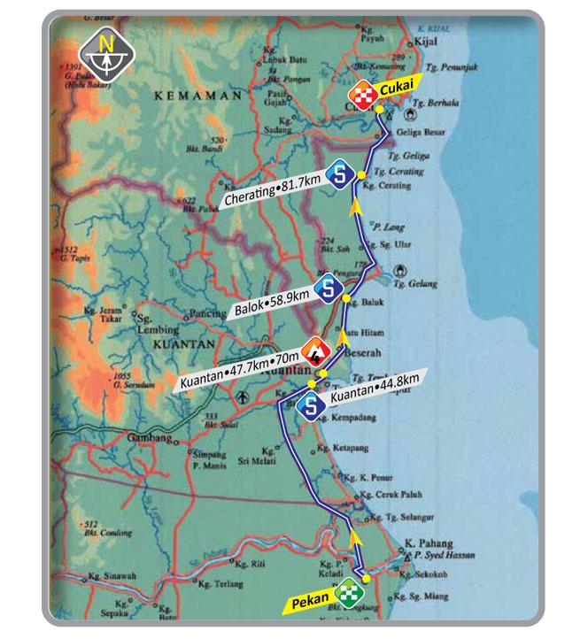 Streckenverlauf Le Tour de Langkawi 2012 - Etappe 8