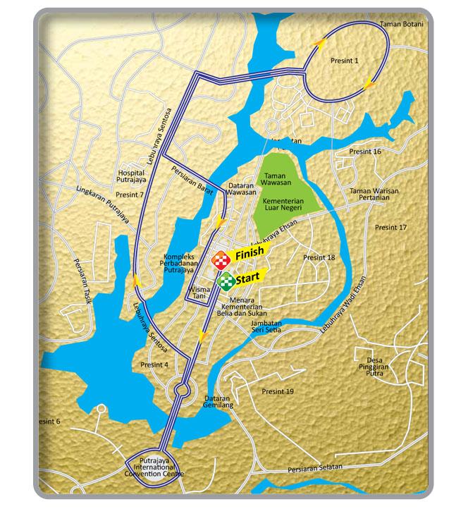 Streckenverlauf Le Tour de Langkawi 2012 - Etappe 1