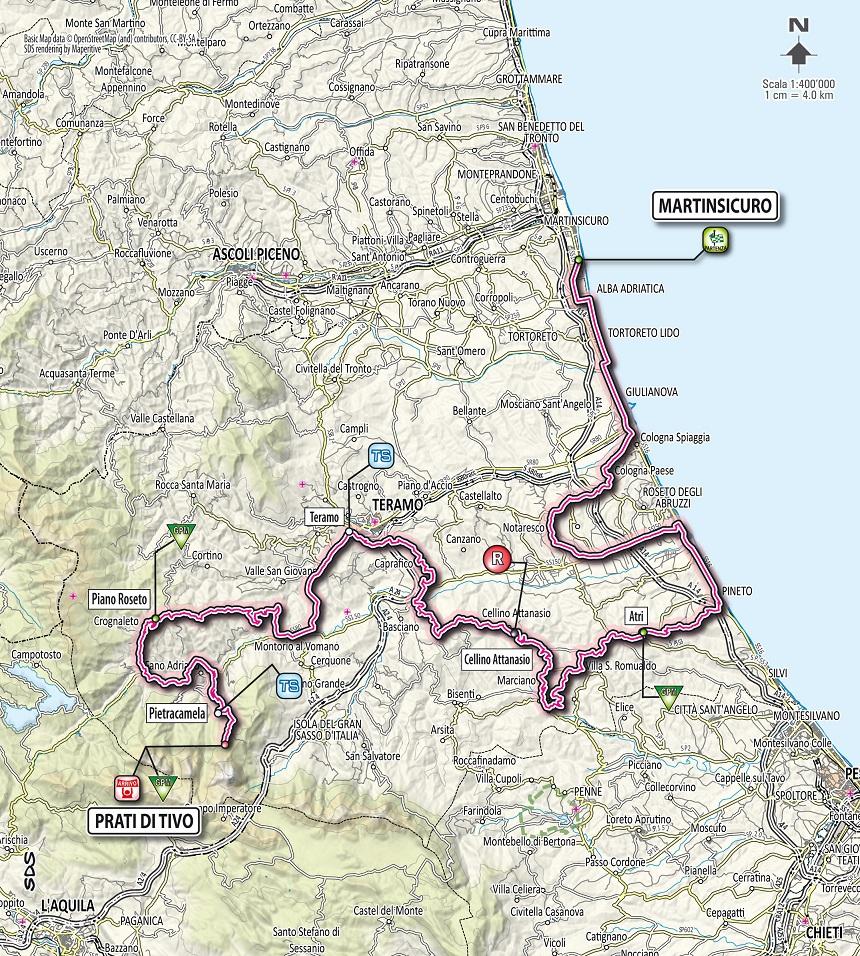 Streckenverlauf Tirreno - Adriatico 2012 - Etappe 5