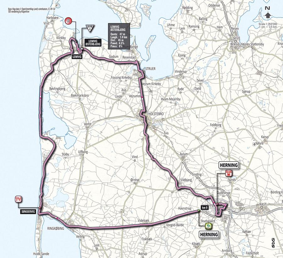 Streckenverlauf Giro d´Italia 2012 - Etappe 2