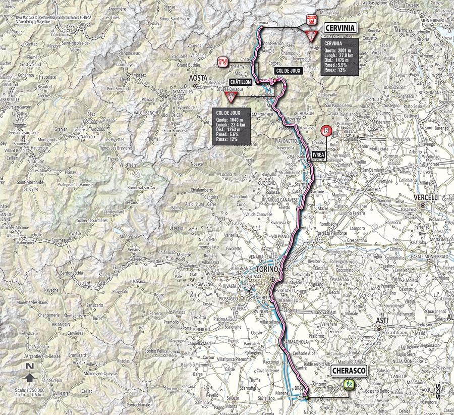 Streckenverlauf Giro d´Italia 2012 - Etappe 14