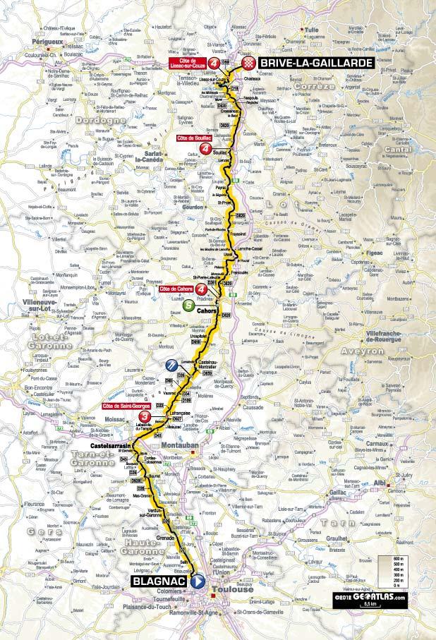 Streckenverlauf Tour de France 2012 - Etappe 18