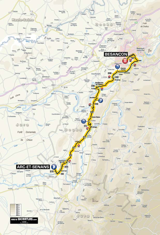 Streckenverlauf Tour de France 2012 - Etappe 9