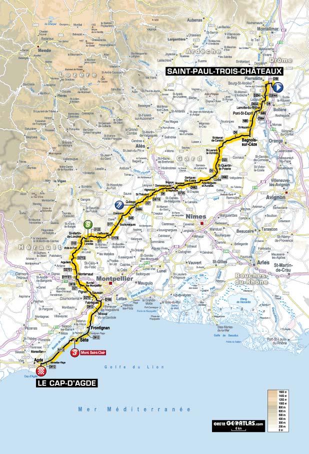 Streckenverlauf Tour de France 2012 - Etappe 13