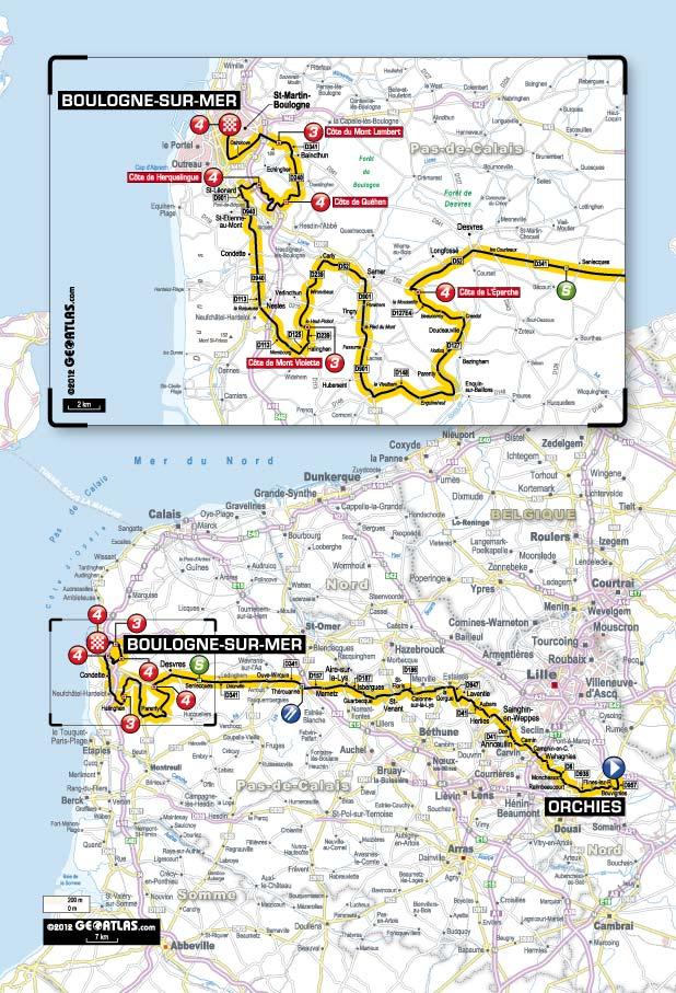 Streckenverlauf Tour de France 2012 - Etappe 3
