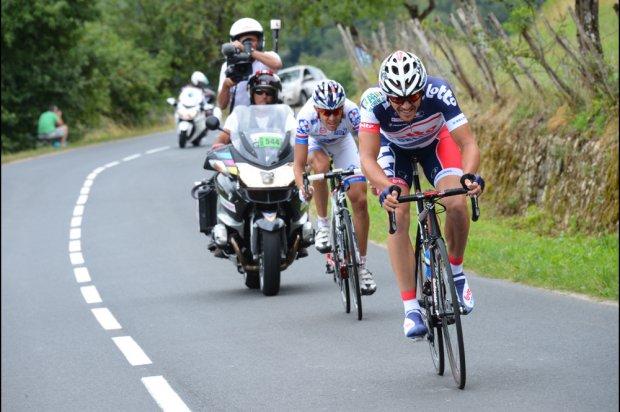 Adam Hansen und Jérémy Roy bei ihrem Angriff 20 Kilometer vor dem Ziel (Foto: letour.fr)