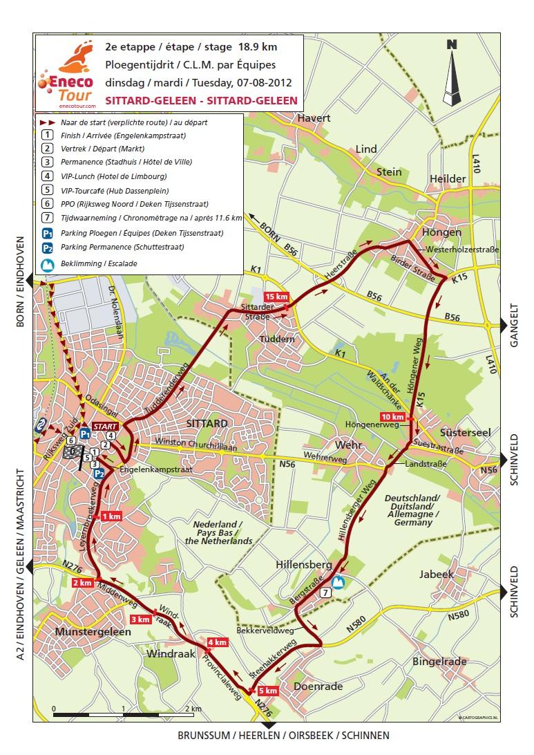 Streckenverlauf Eneco Tour 2012 - Etappe 2