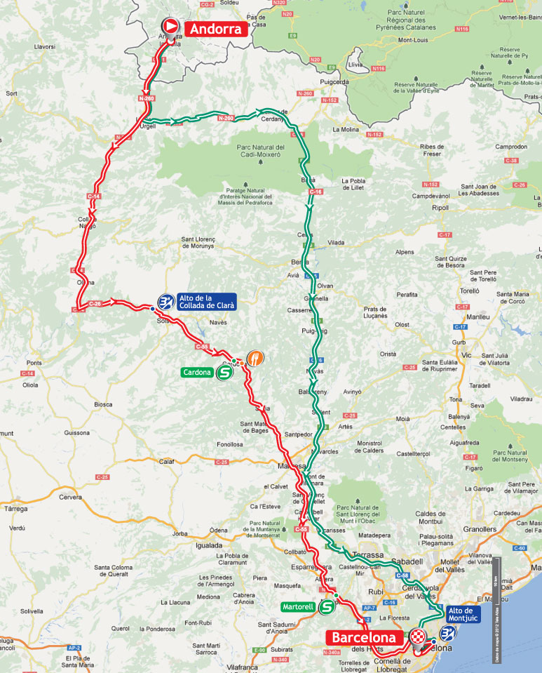 Streckenverlauf Vuelta a España 2012 - Etappe 9