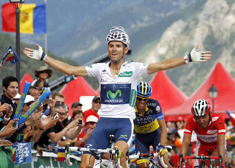 Valverde siegt in Andorra - Froome verliert Zeit im Vuelta-Vierkampf