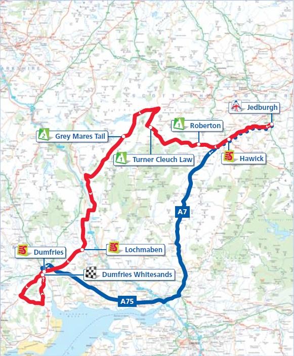 Streckenverlauf Tour of Britain 2012 - Etappe 3