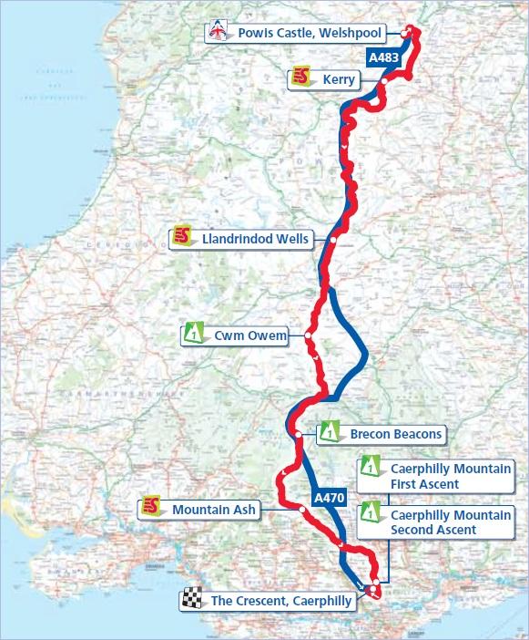 Streckenverlauf Tour of Britain 2012 - Etappe 6
