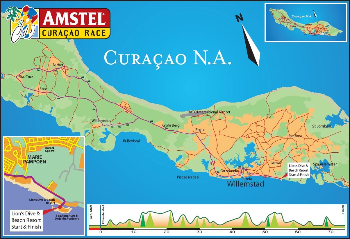 Höhenprofil und Streckenverlauf Amstel Curaçao Race 2012