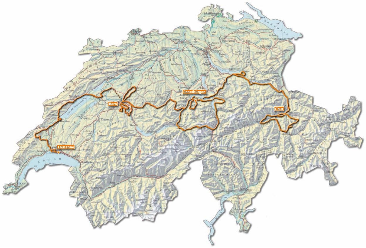 Höhenmeter Karte.Strecken Des Swiss Olympic Gigathlon 2013 Mit Karten Und Profilen