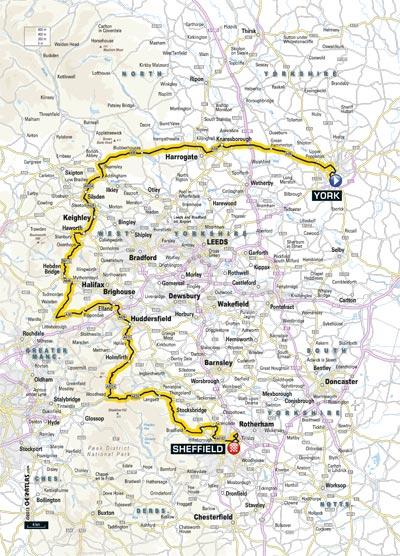 Grand Départ Der Tour De France 2014 Karte Der 2 Etappe
