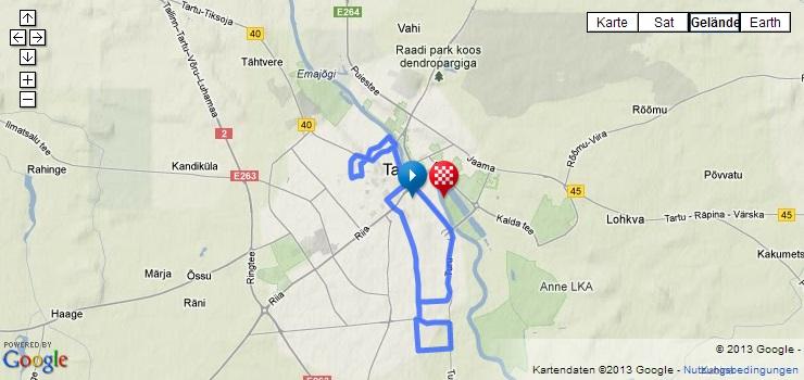 Streckenverlauf Tour of Estonia 2013 - Etappe 3