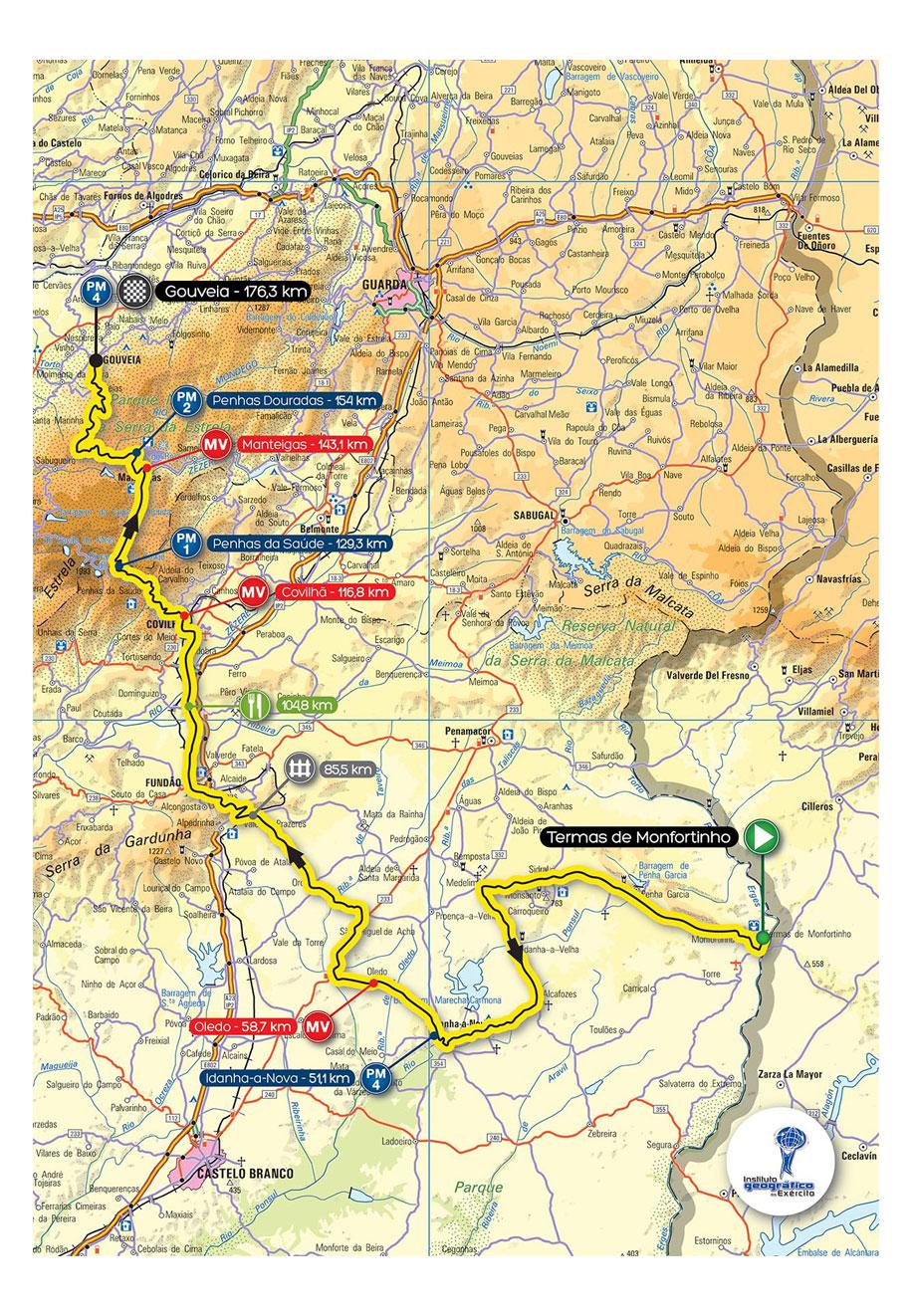 Streckenverlauf Volta a Portugal em Bicicleta Liberty Seguros 2013 - Etappe 7