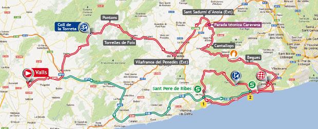 Streckenverlauf Vuelta a España 2013 - Etappe 13