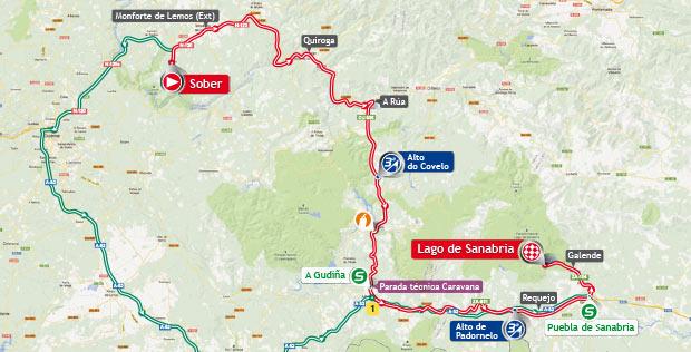 Streckenverlauf Vuelta a España 2013 - Etappe 5