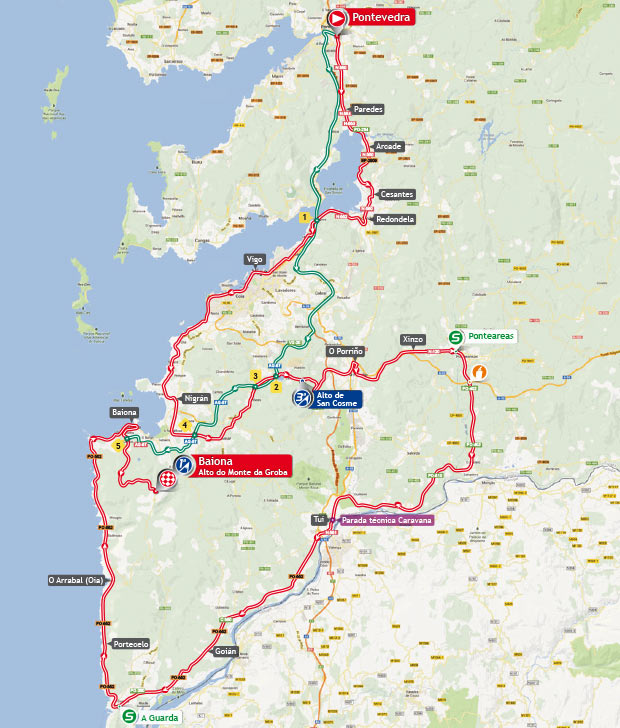 Streckenverlauf Vuelta a España 2013 - Etappe 2