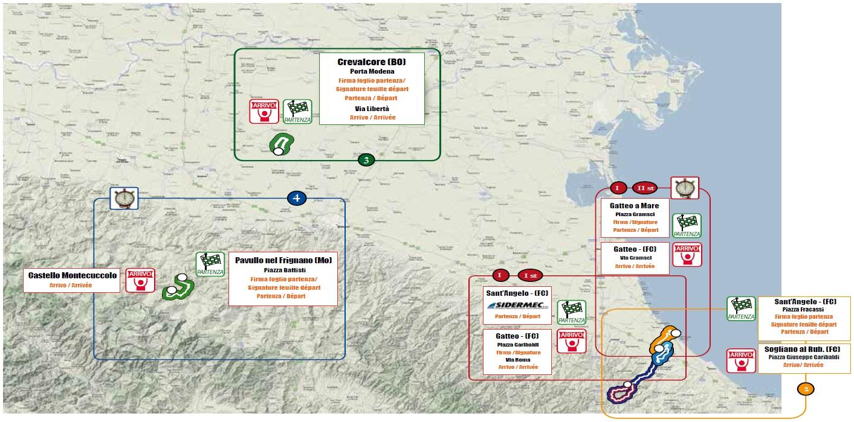 Streckenverlauf Settimana Internazionale Coppi e Bartali 2014