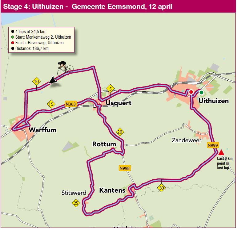 Streckenverlauf Energiewacht Tour 2014 - Etappe 4
